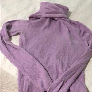 Lilac cowl/turtleneck sweater